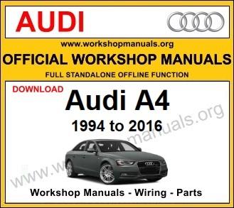 Audi A4 workshop service repair manual download