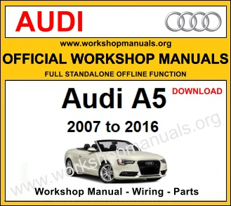Audi A5 workshop service repair manual download