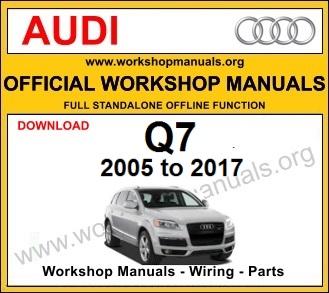 Audi Q7 workshop service repair manual