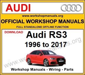 Audi RS3 workshop service repair manual download