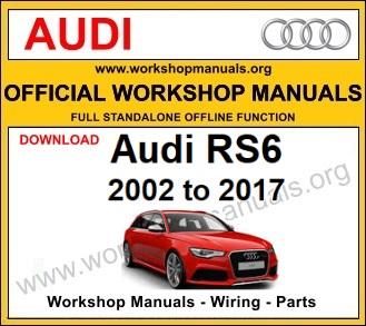 Audi RS6 workshop service repair manual