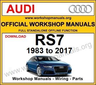 Audi RS7 workshop service repair manual download