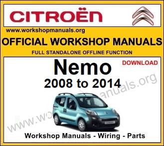 Citroen Nemo workshop repair service manual download