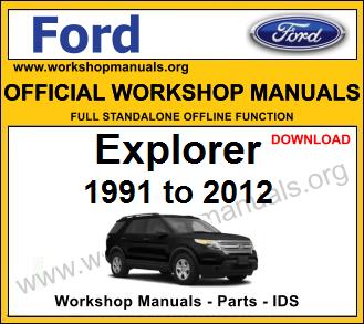 Ford Explorer workshop service repair manual download