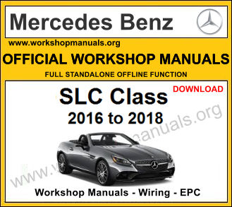 Mercedes slc class workshop service repair manual download