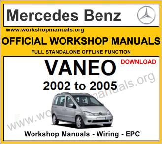 Mercedes Vaneo Workshop Manual