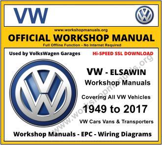 vw volkswagen workshop manual