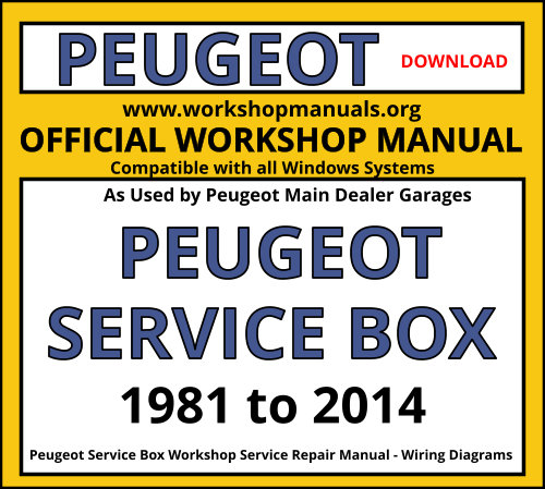 Peugeot Workshop Manual Workshop Manuals