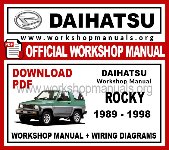 Daihatsu Rocky Workshop Repair Manual