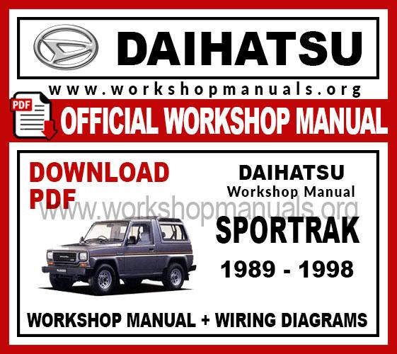 Daihatsu Sportrak Workshop Repair Manual