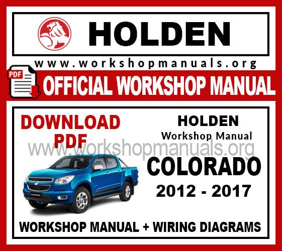 Holden Colorado Work Repair Manual, Holden Colorado Wiring Diagram Pdf