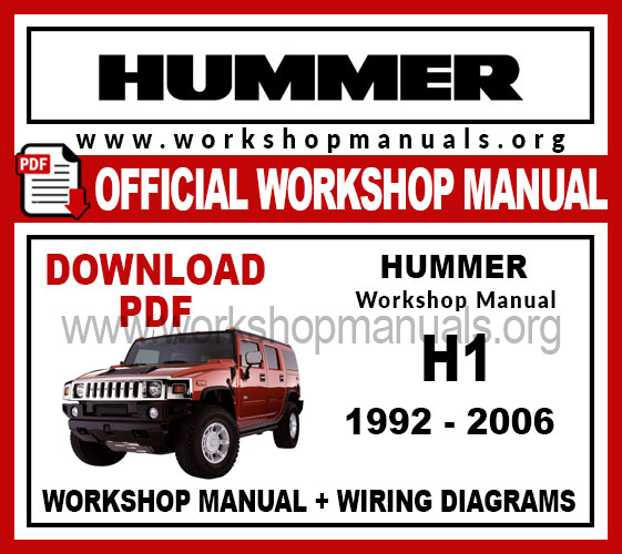 Hummer H1 workshop service repair manual