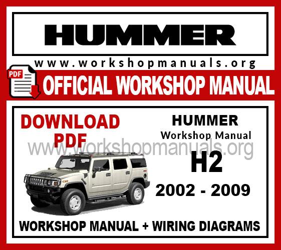 Hummer H2 workshop service repair manual