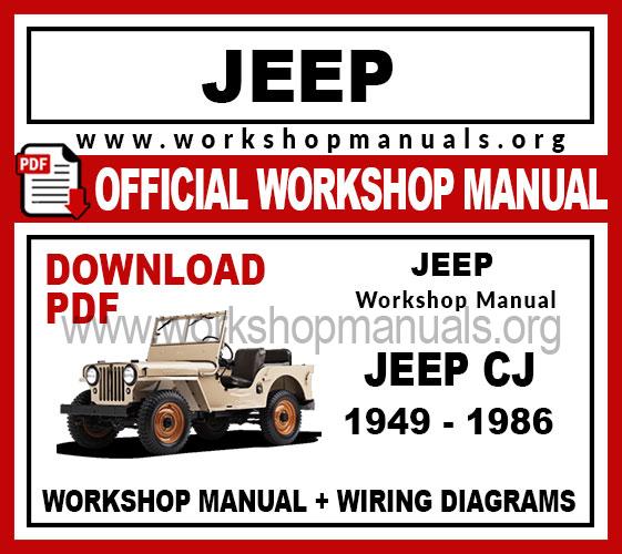 jeep repair diagrams jeep cj workshop repair manual workshop manuals  jeep cj workshop repair manual