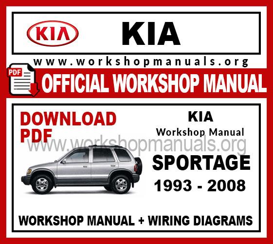 Kia Sportage 1993-2008 Workshop Repair Manual