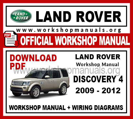Land Rover Discovery 4 Workshop Repair Manual