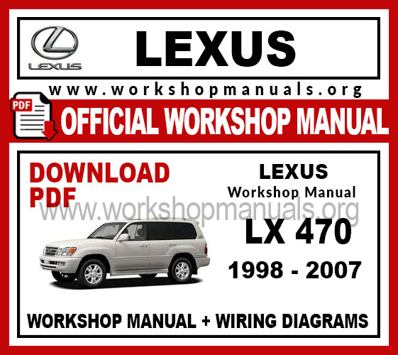 [DIAGRAM_3ER]  Lexus LX 470 Workshop Repair Manual - WORKSHOP MANUALS | Lexus Lx 470 Wiring Diagram |  | WORKSHOP MANUALS