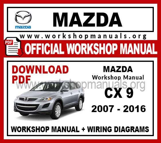 Mazda Cx-9 Workshop Repair Manual