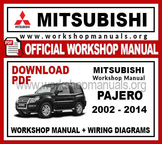 Mitsubishi Pajero Workshop Repair Manual