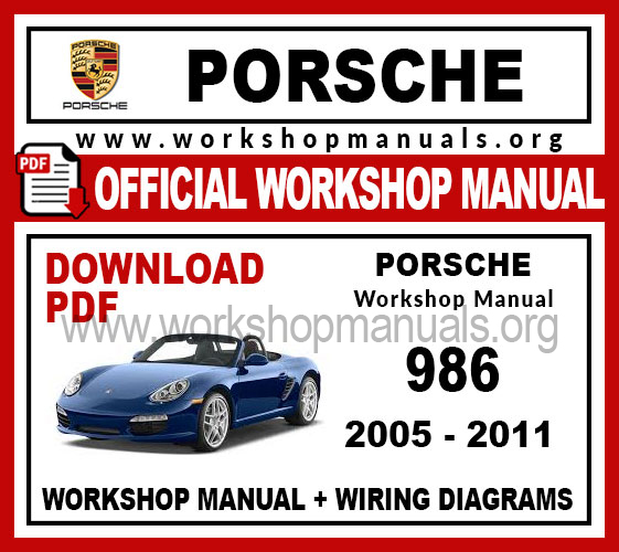 Porsche Boxster 986 Workshop Repair Manual