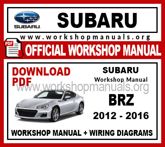 Subaru BRZ Workshop Service Repair Manual