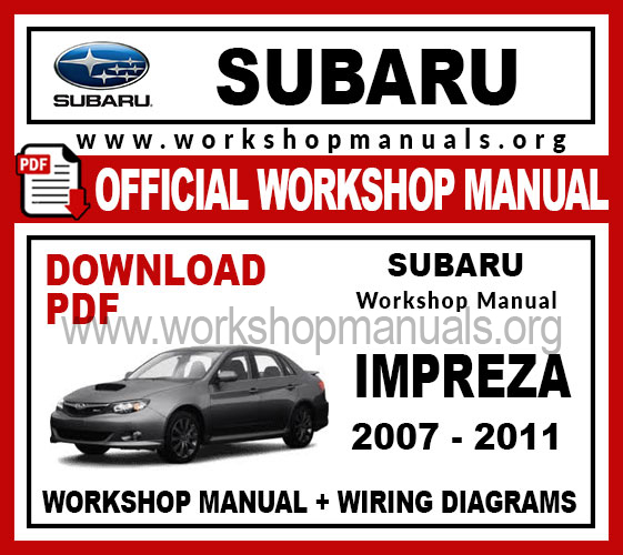 Subaru Impreza Workshop Service Repair Manual