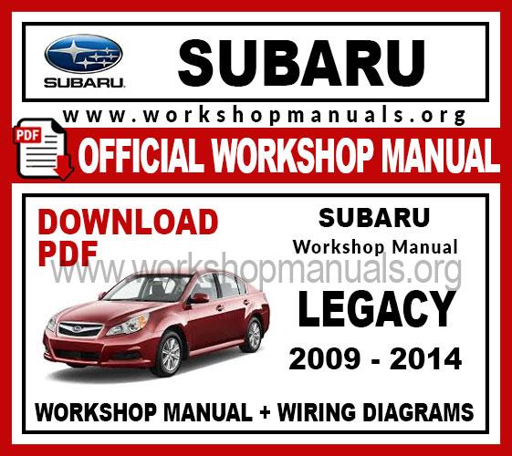 Subaru Legacy Workshop Service Repair Manual