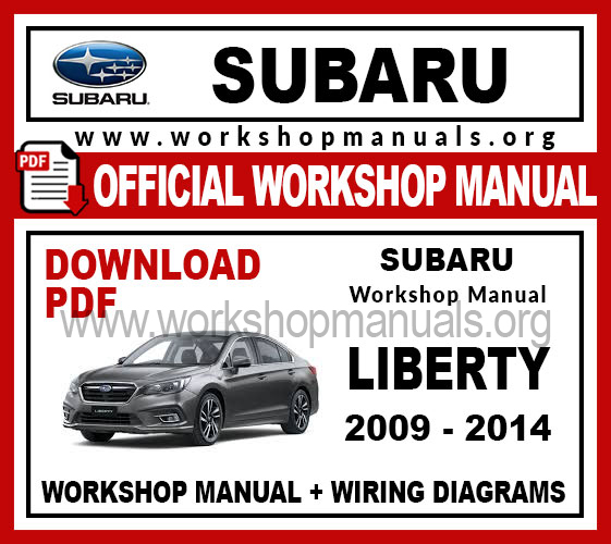 Subaru Liberty Workshop Service Repair Manual