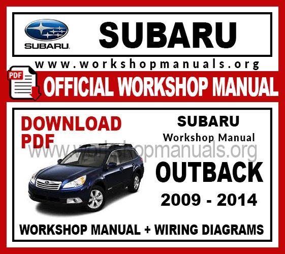 Subaru Outback Workshop Service Repair Manual
