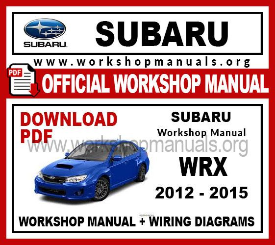 Subaru WRX Workshop Service Repair Manual
