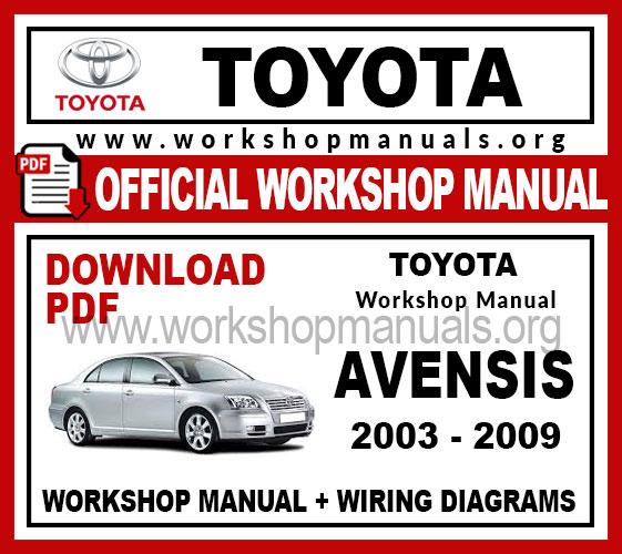 Toyota Avensis Workshop Service Repair Manual