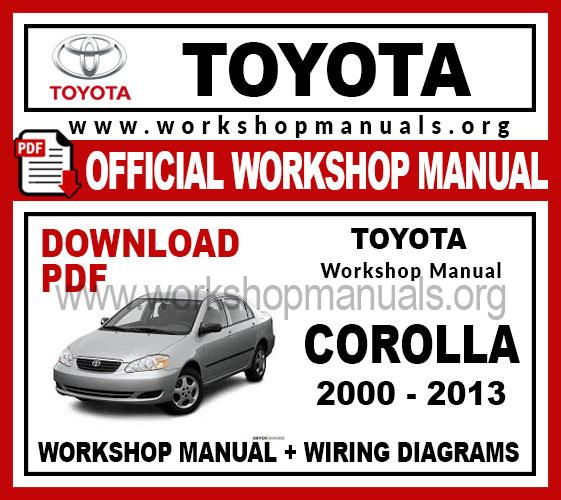 Toyota Corolla workshop service repair manual