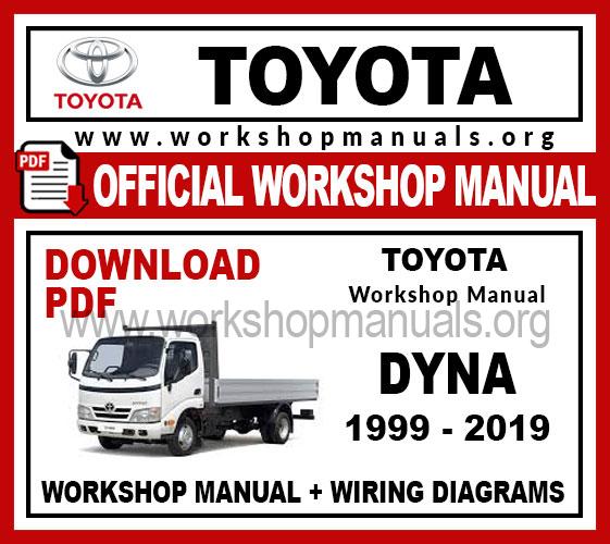 Toyota Dyna Workshop Service Repair Manual