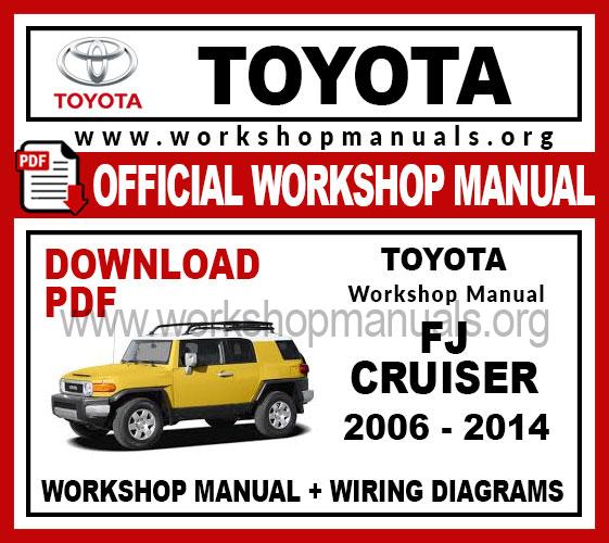 Toyota FJ Cruiser workshop service repair manual