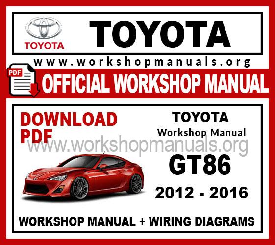 Toyota 86 workshop service repair manual