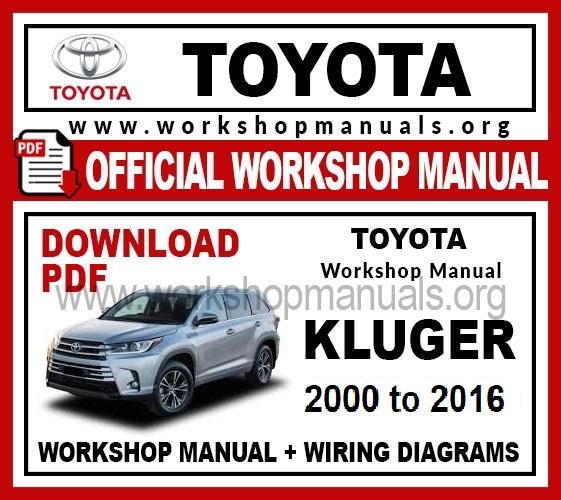 Toyota Kluger workshop service repair manual