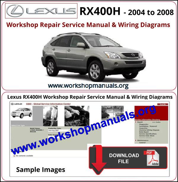 Lexus Rx 400h Workshop Repair Manual