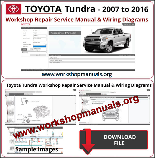 Toyota Tundra Workshop Repair Manual