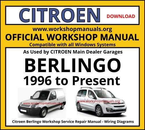 Citroen Berlingo Workshop Manual Workshop Manuals
