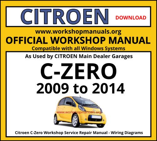 Citroen C-zero Workshop Manual