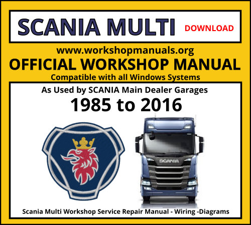 Scania Multi Workshop Repair Manual