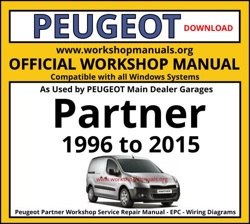 Peugeot Partner Workshop Service Repair Manual